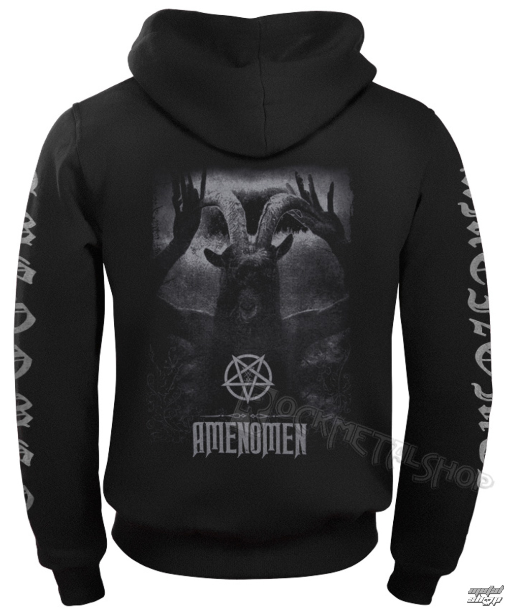 sweat-shirt avec capuche pour hommes - UNDER THE UNSACRED MOONLIGHT - AMENOMEN