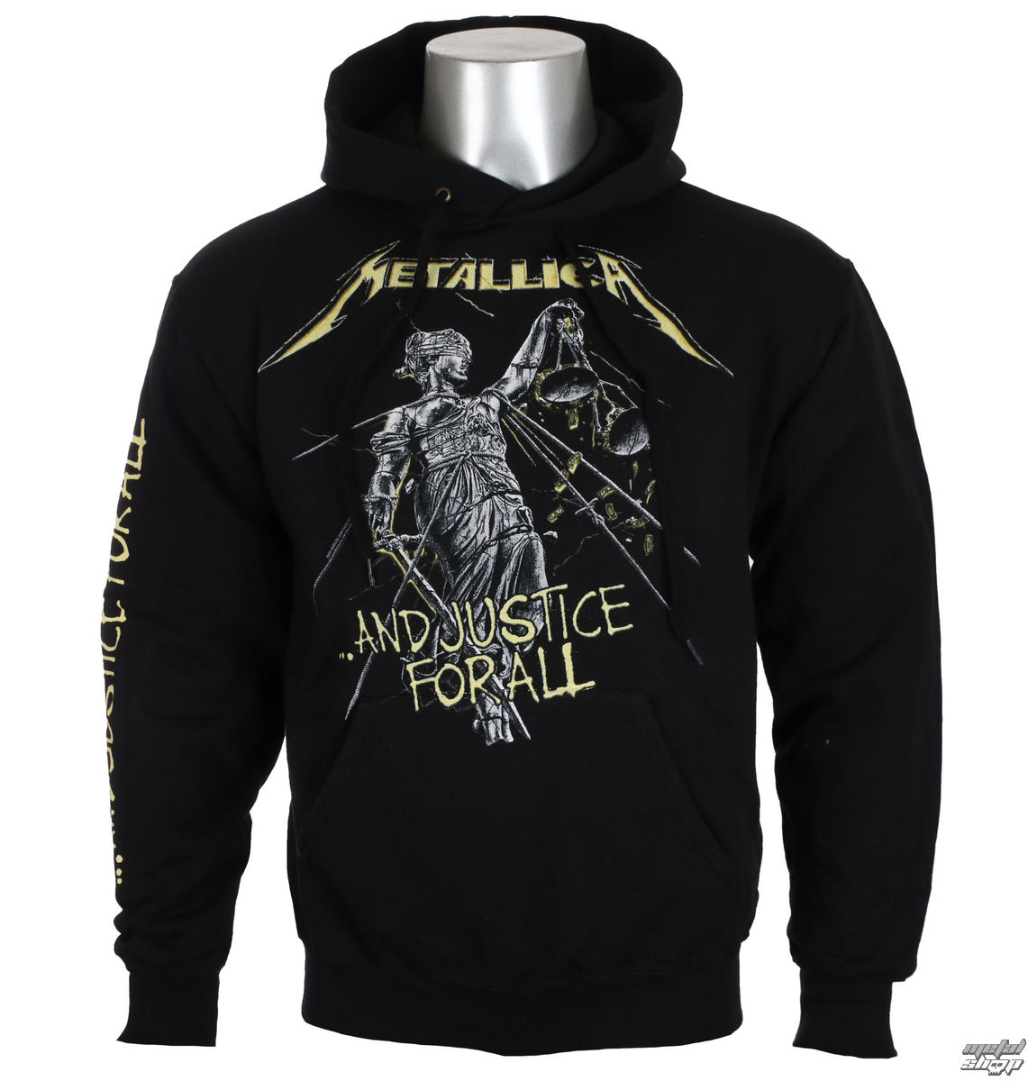 f3f399193f sweat-shirt avec capuche pour hommes Metallica - And Justice For All Tracks  - NNM