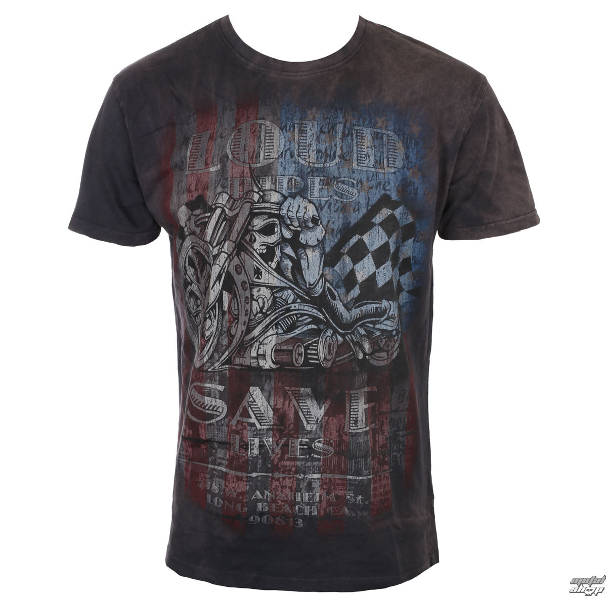 t-shirt pour hommes - USA LOUD PIPE - West Coast Choppers
