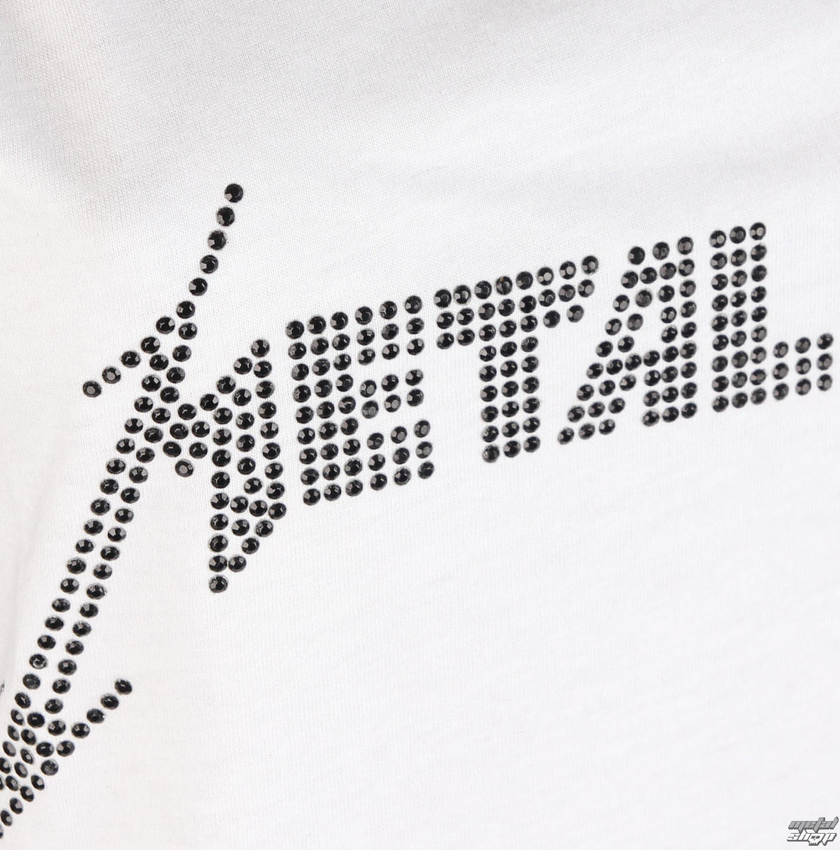 top femmes METALLICA CLASSIC LOGO WHITE AMPLIFIED