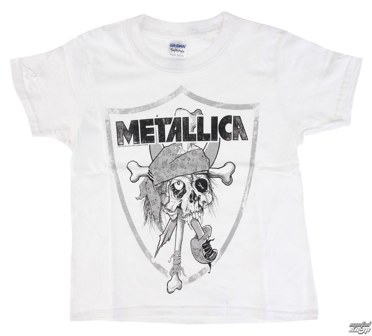 3205267a564 tričko dětské Metallica - Pirate - White - RTMTL116 - metalmonde.fr