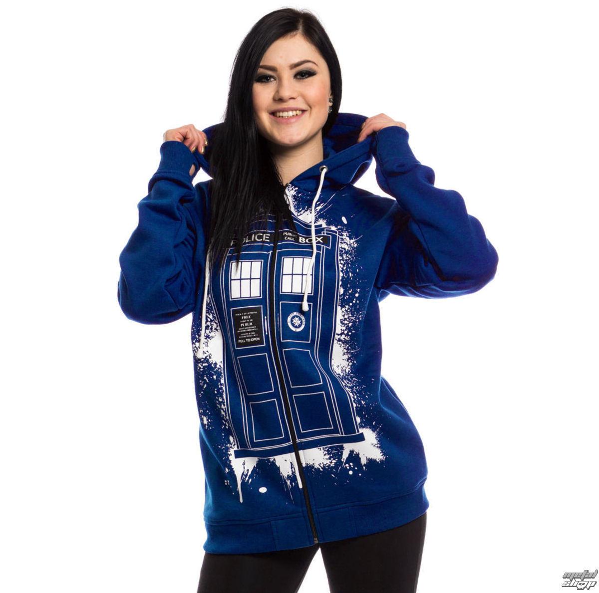 doctor who street veste femme noir bleu