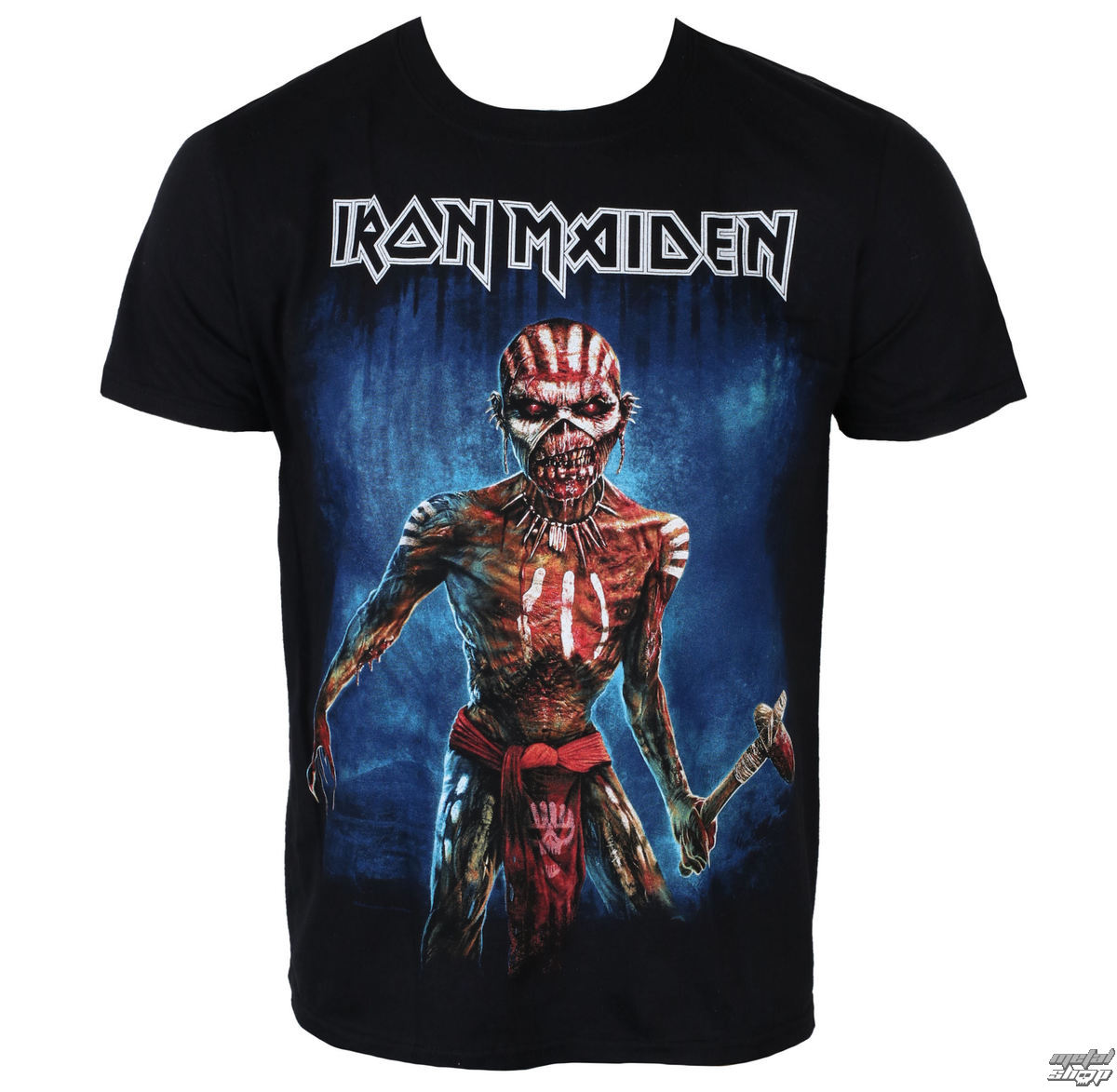 tee shirt m tal pour hommes iron maiden black rock off. Black Bedroom Furniture Sets. Home Design Ideas