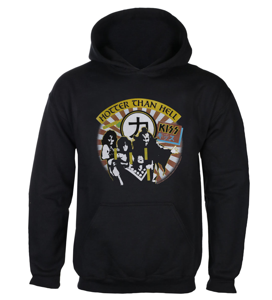 sweat-shirt avec capuche pour hommes Kiss - Hotter than Hell - LOW FREQUENCY