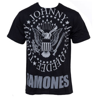 tee-shirt métal Ramones - Hey Ho Lets Go - LIQUID BLUE - 31966