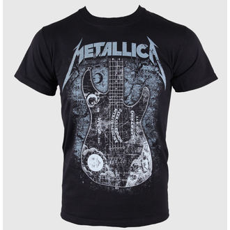 tee-shirt pour hommes Metallica - Kirk Ouija board Guitar - Noire - LIVE NATION-10443