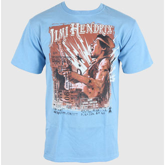 tee-shirt métal pour hommes Jimi Hendrix - Cry of Love Tour - LIQUID BLUE - 11637
