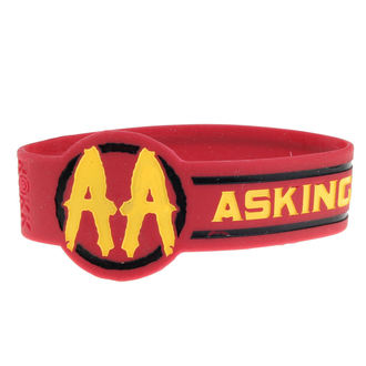 Caoutchouc Bracelet ASKING ALEXANDRIA - DIE CUT CIRCLE LOGO - PLASTIC HEAD, PLASTIC HEAD, Asking Alexandria