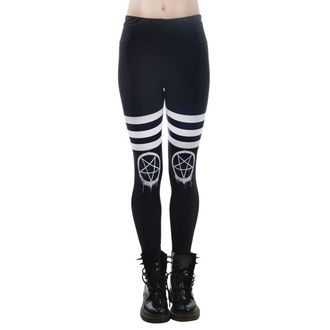 pantalon femmes (leggings) TOO FAST - DRIPPY PENTAGRAM, TOO FAST