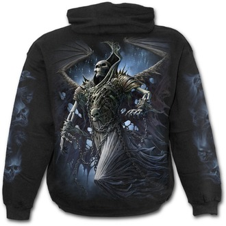 sweat-shirt avec capuche pour hommes - WINGED SKELTON - SPIRAL, SPIRAL