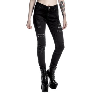 pantalon femmes KILLSTAR - Lithium - Noir, KILLSTAR
